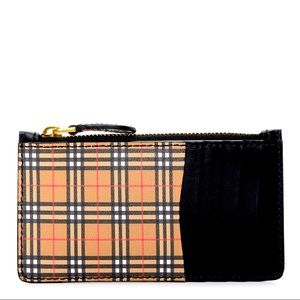 BURBERRY Black Somerset 1893 Leather Card Case
